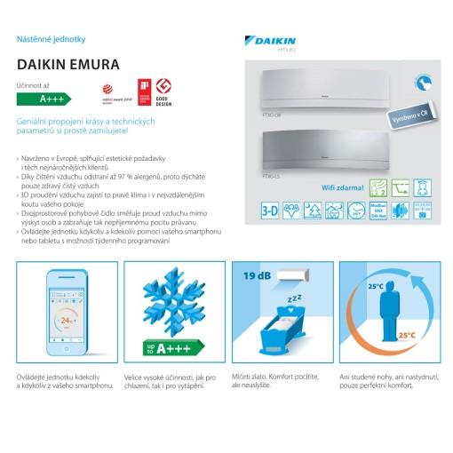 Klimatizace DAIKIN FTXS-50K/G split | Popis klimatizace od výrobce