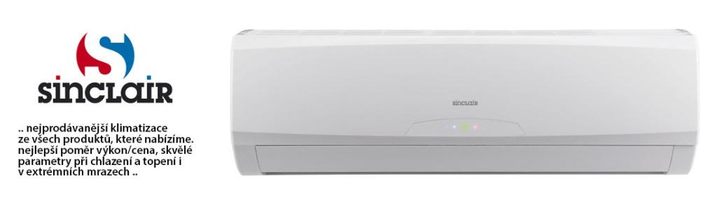 Klimatizace Sinclair - nejprodávanějšá klimatizace ze všech produktů, které nabízíme