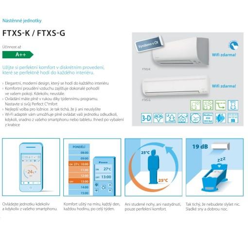 Klimatizace DAIKIN FTXS-50K/G split | Popis a manuál klimatizace
