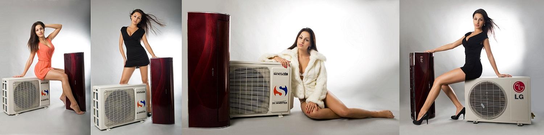 Klimatizace s modelkami :)