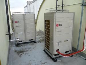 Systém VRV klimatizace LG na střeše